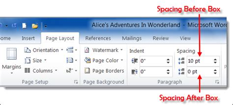 microsoft word page layout tab page layout tab word 2010 images