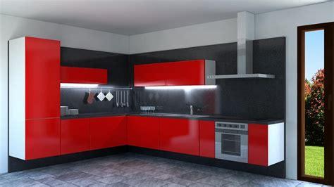 cucina rossa laccata cucina laccata rossa ad angolo idfdesign