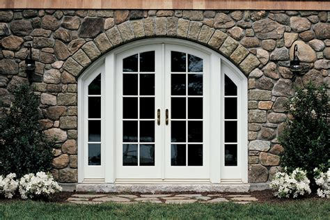 ultimate swinging arch top french patio doors marvin
