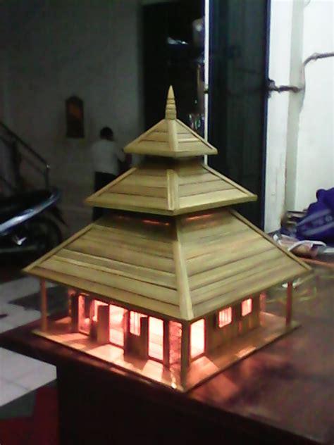 cara membuat kerajinan miniatur panorama indah kerajinan miniatur masjid agung demak dari