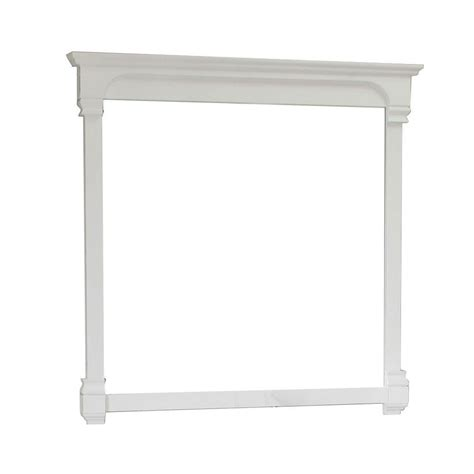 42 inch solid wood frame mirror cream white modern bellaterra home magnolia 42 in l x 42 in w solid wood