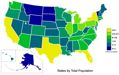 usa map with states and population file usa states population map 2007 color png wikimedia