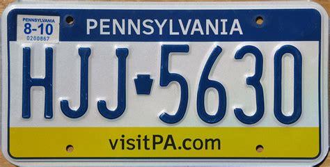 Pa Vanity License Plate by Pennsylvania 5 Y2k