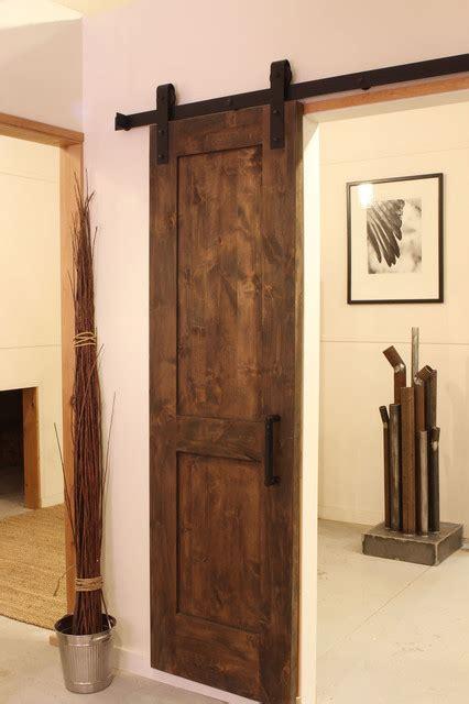 Industrial Barn Door Hardware Modern Living Room Houzz Barn Doors