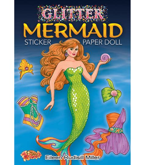 glitter narwhals stickers dover activity books stickers books dover publications glitter mermaid sticker paper doll book