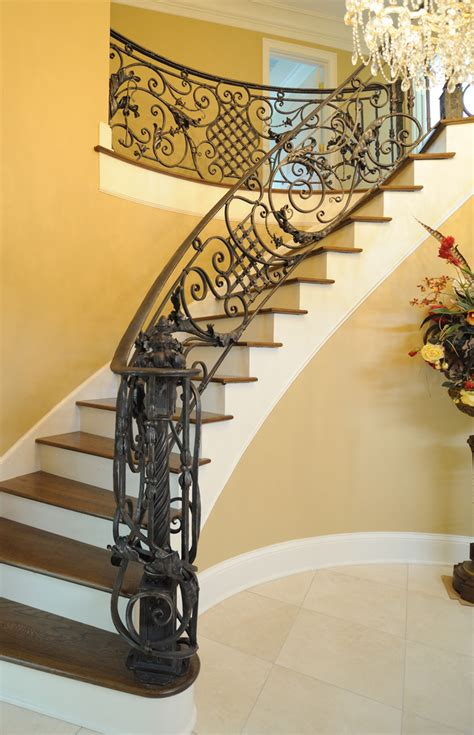 Antique Stairs Design Wrought Iron Stair Railings For Stunning Interior Staircases Decohoms