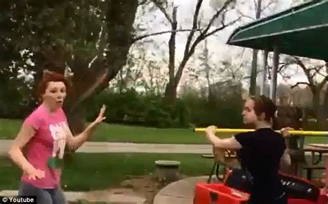 backyard girl fights girl on girl fight video shows 16 year old hit on head