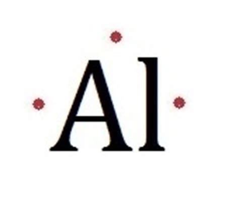 aluminum electron dot diagram lewis dot structure al images