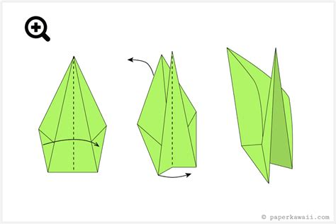 Origami Tulip With Stem - how to make an origami tulip flower stem