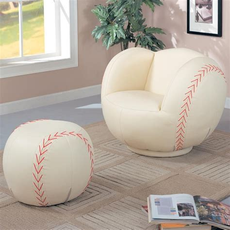 kids baseball chair and ottoman kids sports chairs large kids baseball chair and ottoman