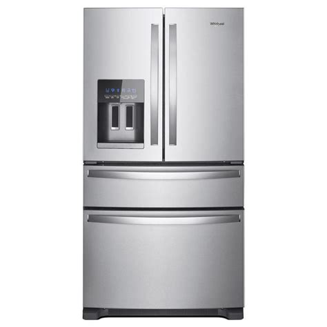 Single Drawer Refrigerator by Shop Whirlpool 24 5 Cu Ft 4 Door Door Refrigerator