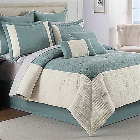 Buy Hathaway 8 Piece Queen Comforter Set From Bed Bath Bed Bath Beyond Comforter Sets
