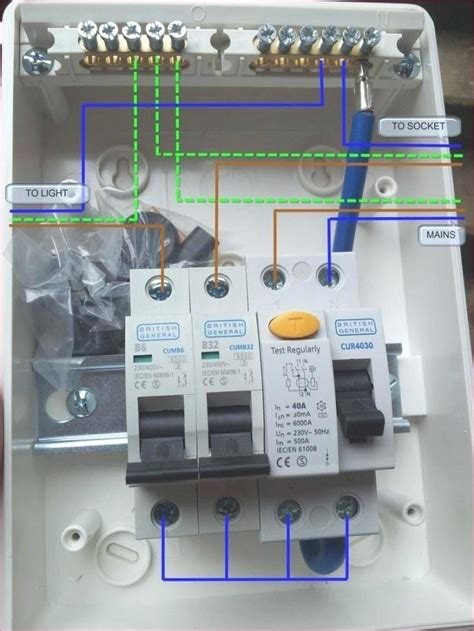 garage consumer unit wiring diagram replace fuse box