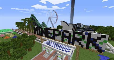theme park name ideas minepark a minecraft theme park minecraft building inc