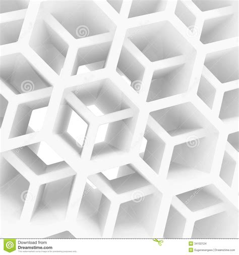 New House Plans With Interior Pictures by Abstract 3d Background With White Honeycomb Stock
