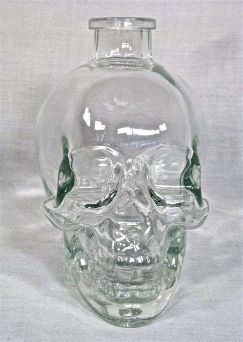 cool glassware cool glass crystal skull bottle other