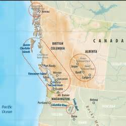 mountain ranges in canada map what would be your best s vacation
