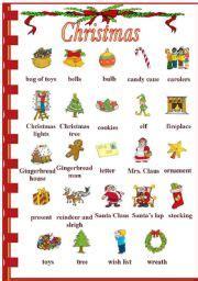 english teaching worksheets christmas vocabulary