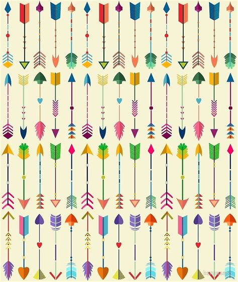 tribal pattern arrows quot colorful tribal arrows pattern with yellow background quot by