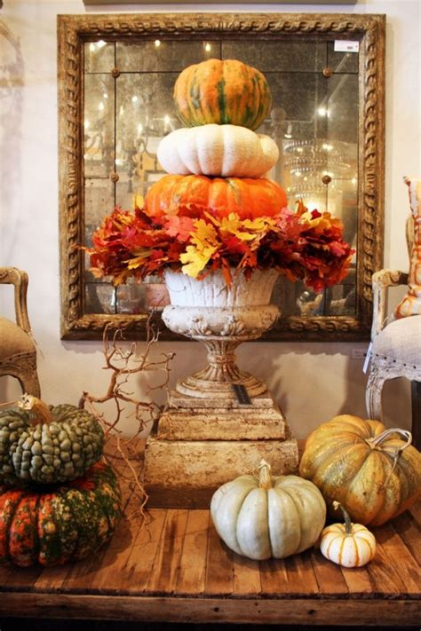 how to decorate your home for thanksgiving 30 beautiful thanksgiving pumpkin decorations for your home digsdigs
