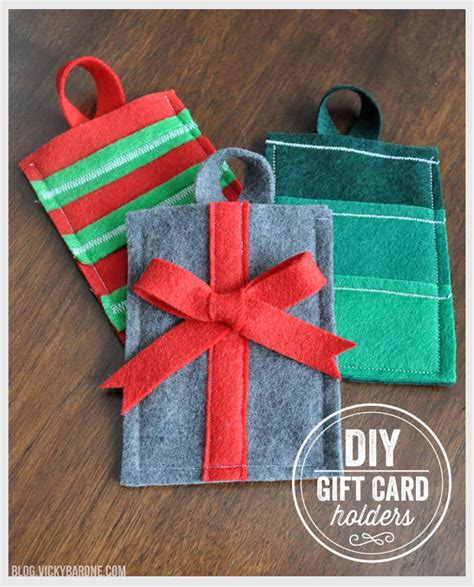 Diy Christmas Gift Card Holder - diy felt gift card holders vicky barone