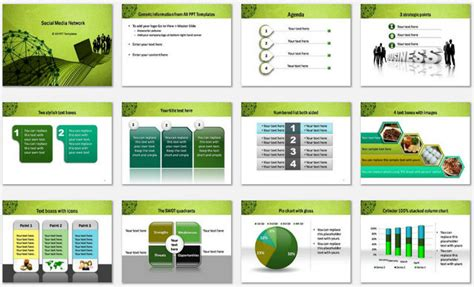 different networks powerpoint template different