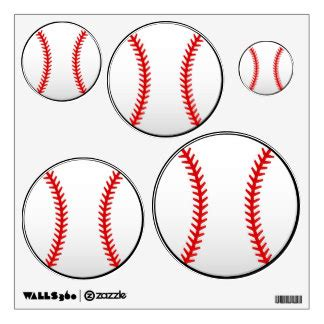 baseball wall stickers baseball wall decals wall stickers zazzle