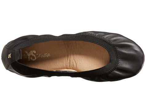fold up flats shoes yosi samra samara soft leather fold up flat black zappos
