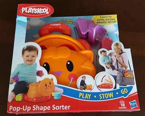 Playskool Pop Up Shape Mainan Anak best on the go preschool toys giveaway