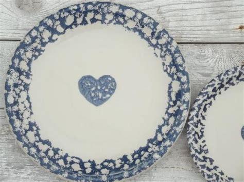 heart pattern crockery folkcraft hearts spongeware pottery tienshan china dishes
