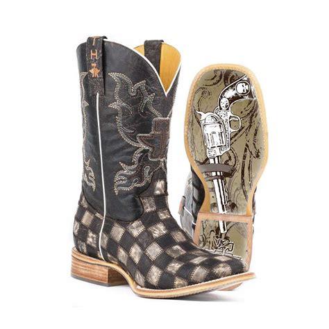 tin haul boots pungo ridge tin haul s gunmetal check w gunslinger