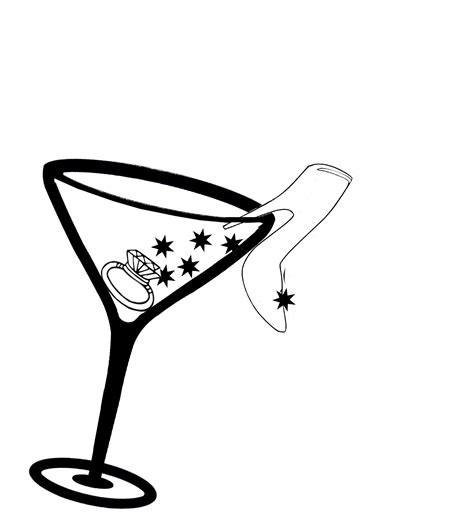 cocktail clipart black and white glass cocktail glass clip art image 2 clipartix