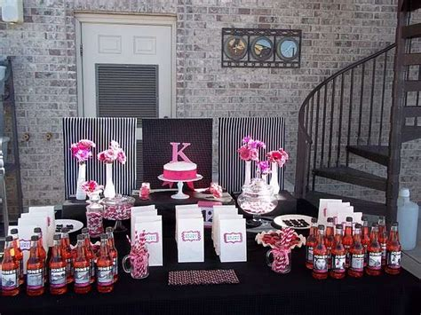 hot pink themes hot pink and black birthday party ideas photo 1 of 7
