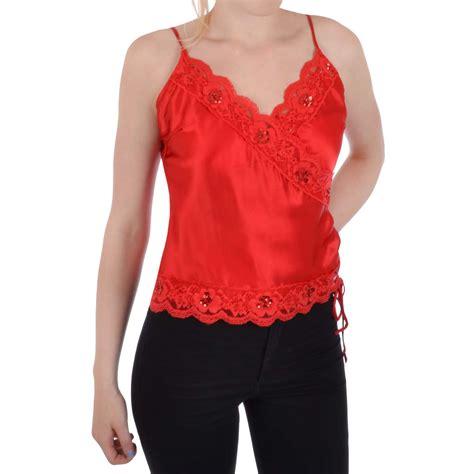 Miss Blouse miss posh womens satin effect sequin blouse shirt