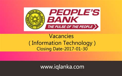 bank closing date it peoples bank closing date 2017 01 30 iqlanka