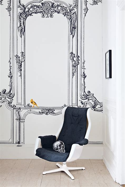 black and white whimsy home for interieur