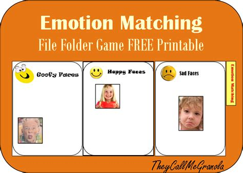 printable emotion games more file folder games owl counting emotion matching