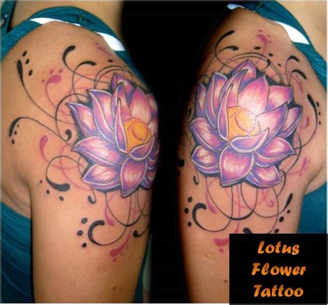 lotus flower tribal tattoo trend styles lotus design