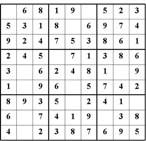 Grille De Sudoku Facile à Imprimer by Quelques Liens Utiles