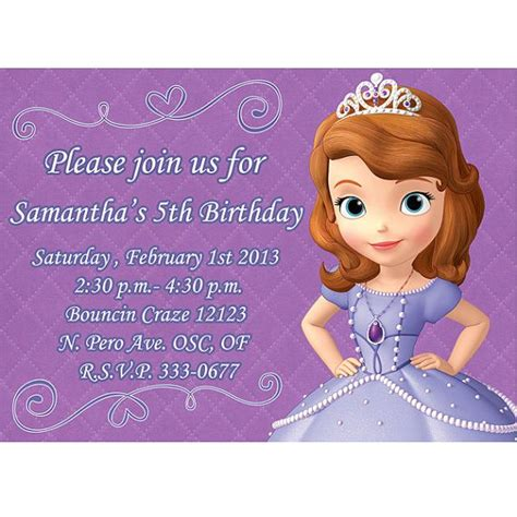 165 Best Images About Princess Sofia Cakes Party Ideas On Pinterest Birthday Party Invitations Sofia The Birthday Card Template