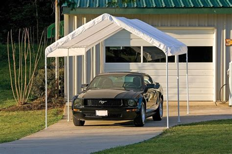 Car Port Tents 10x20x8 shelterlogic 6 leg canopy carport portable garage tent 25757 ebay