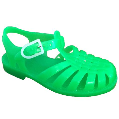Jelly Shoes Sale 10 jelly sandals sun neon green