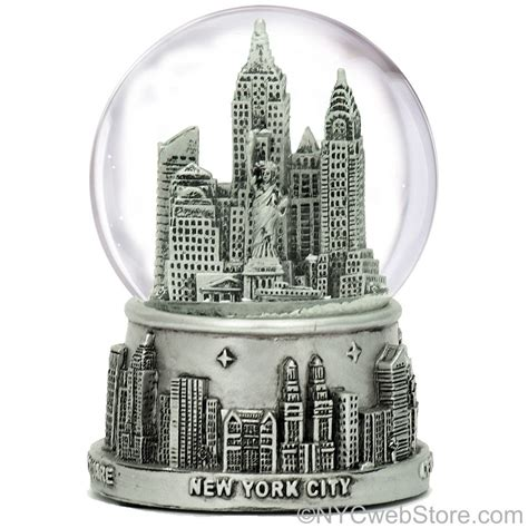 Where To Buy New York And Company Gift Cards - new york city snow globe silver nyc snow globes at 3 5 inches tall for ny gift ebay