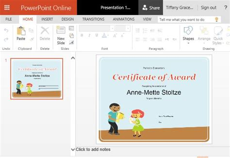 How To Create Printable Award Certificates In Powerpoint Award Certificate Template Powerpoint