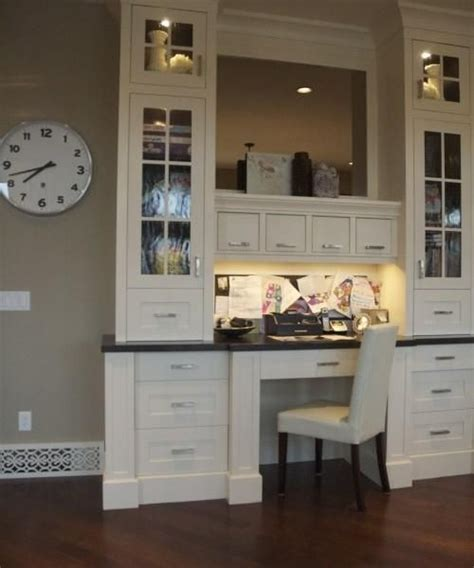 ideas kitchen office spaces pinterest kitchen office desk nook kitchen desks