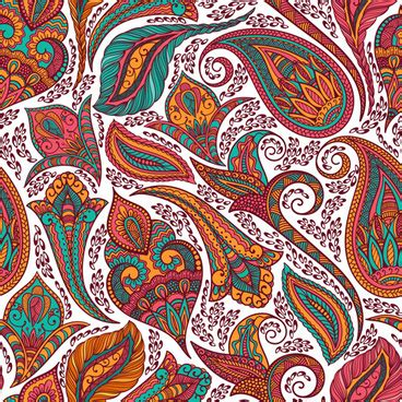indian pattern ai indian paisley pattern free vector download 19 425 free