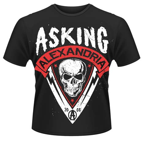 Asking Alexandria Skull asking alexandria skull shield t shirt new official