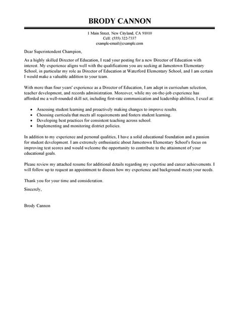 cover letters education leading professional director cover letter exles