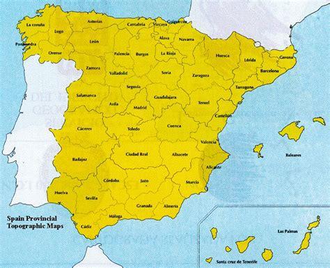 map of spain provinces spain provinces map