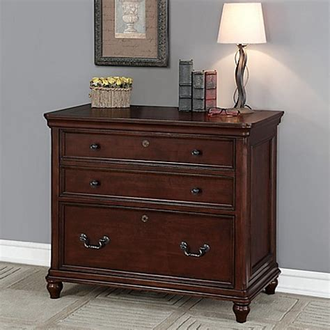 Wood Lateral File Cabinet 3 Drawer Oxford 3 Drawer Lateral File Cabinet In Wood Bed Bath Beyond